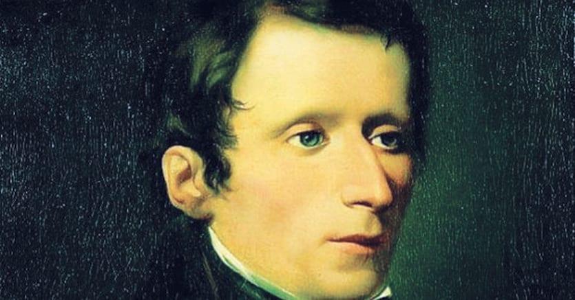 Filosofo. Giacomo Leopardi (1798-1837) ritratto da Domenico Morelli