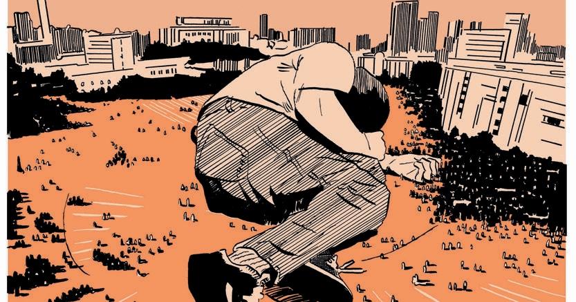 """Dedicata a Giulio. Illustrazione tratta dalla storia """"Tutto il male del mondo"""" di Marino Neri e Pietro Scarnera, online su Graphic News (www.graphic-news.com)"""