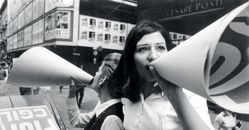 Battagliere. Impiegate Philips in sciopero,  23 maggio 1969, Silvestre Loconsolo -Archivio del Lavoro di Sesto San Giovanni