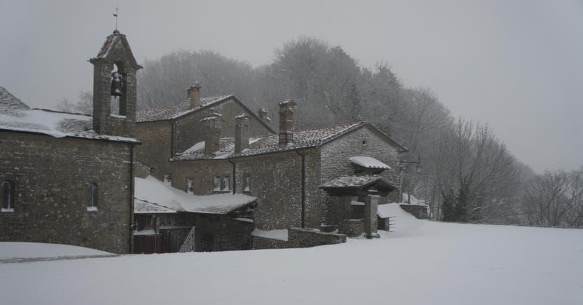Il santuario francescano La Verna (foto www.laverna.it)