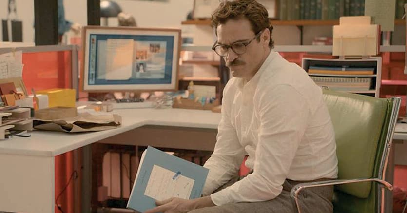 Il protagonista del film di Spike Jonzei «Her» (Lei, 2013) per mestiere  detta al computer lettere per conto di altri, esprimendo sentimenti che la maggior parte della persone non saprebbe mettere per iscritto. La stampante le riproduce poi in bella grafia, come fossero scritte a mano