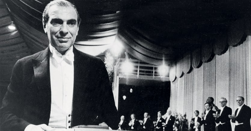 A Stoccolma.Kenneth Arrow riceve il premio Nobel per l'economia nel 1972