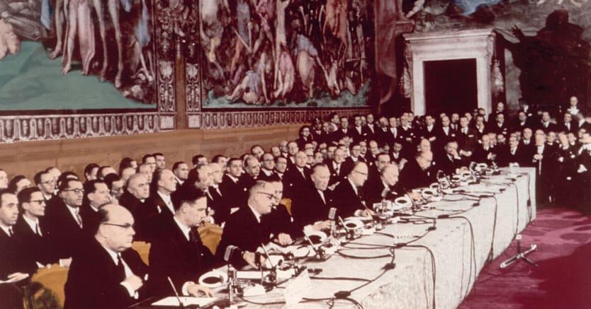 25 mar zo 1957:  firma del Trattato di Roma