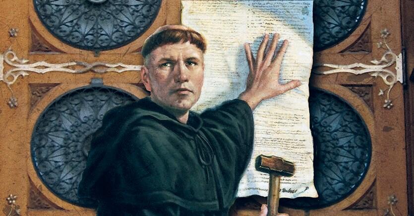 Secondo la tradizione Lutero avrebbe appeso le «95 Tesi» il 31 ottobre 1517 sul portale della chiesa del castello di Wittenberg. Ma gli studi hanno dimostrato che questa sfida pubblica è da archiviare come leggendaria