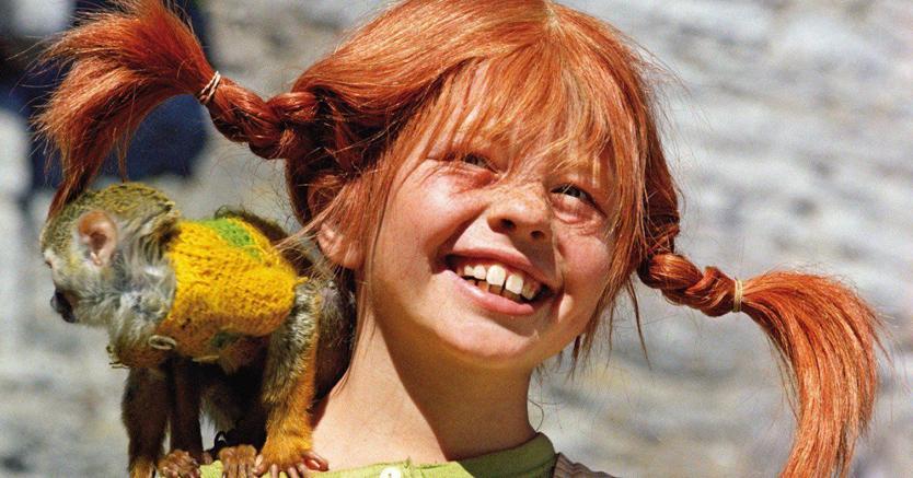 Monella. Inger Nilsson è Pippi Calzelunghe nell'omonima serie televisiva