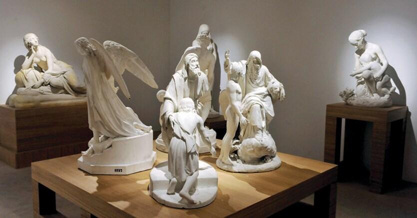 Allestimento.La mostra sui cent'anni di scultura a Milano (1815-1915) allestita alla Gam