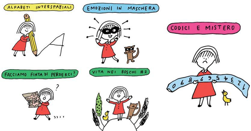 Con logica, vignette dell'illustratrice giapponese Yocci