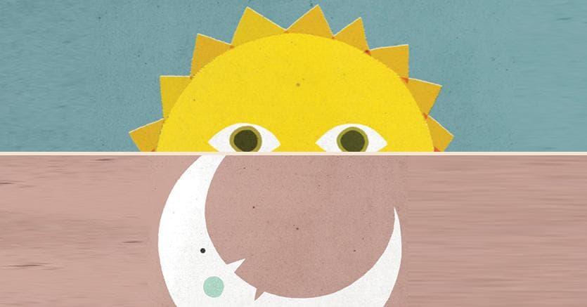 Due illustrazioni tratte dal libro «Quando il sole si sveglia» di Giovanna Zoboli e Philip Giordano
