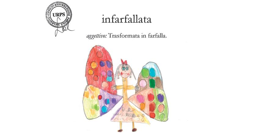BAMBINA INFARFALLATA. Illustrata da Paolo Guarino, VA, Scuola primaria G.Carducci, Bologna