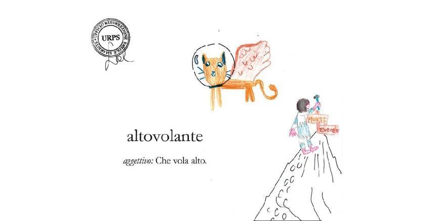GATTO ALTOVOLANTE|Illustrato da Tea Brintazzoli, II E, Scuola Primaria Dante Alighieri,Borgo San Lorenzo, (FI)