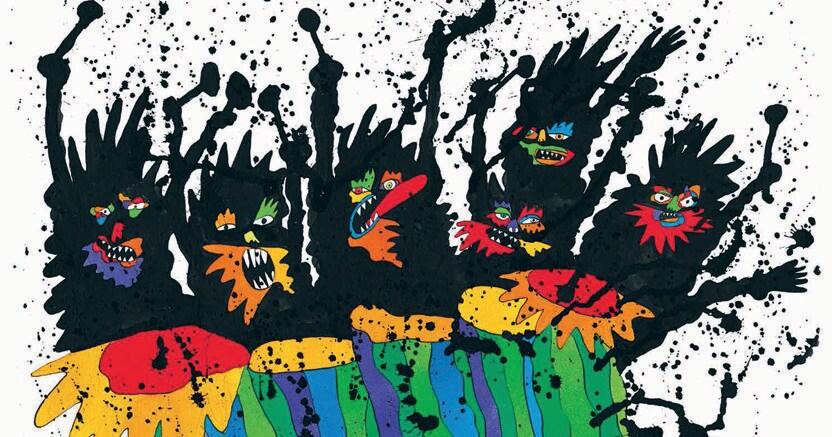 Musica senza gabbie. Una delle illustrazionid di Federico Maggioni per il libro «Orfeo, la ninfa siringa e le percussioni pazze dei coribanti» di Franco Lorenzoni