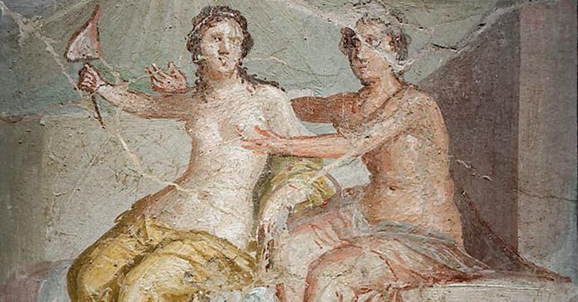 Marte e Venere. Affresco proveniente dalla Casa del Meleagro a Pompei, ora al Museo Archeologico di Napoli