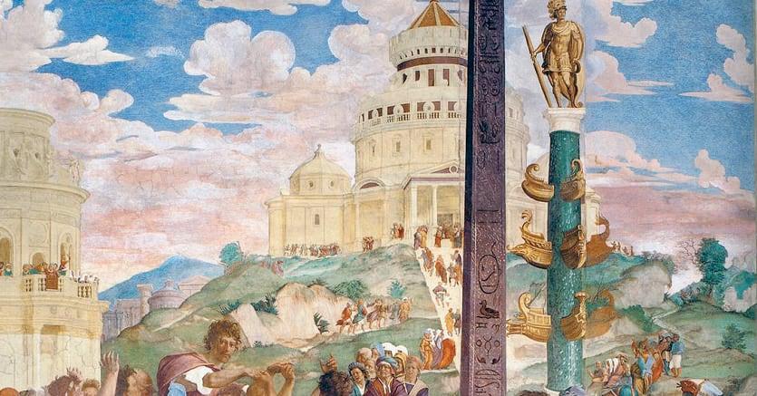 L'oratore. «Il ritorno di Cicerone a Roma» (1519-21) di Franciabigio, Villa Medici, Poggio a Caiano