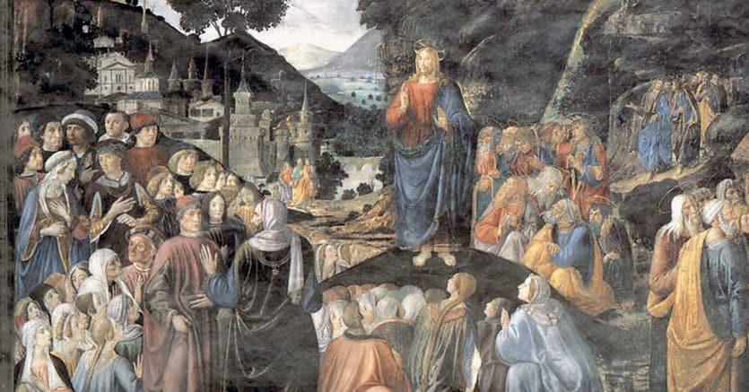 Beatitudini. Cosimo Rosselli, «Il Discorso della montagna», 1482, Roma, Cappella Sistina