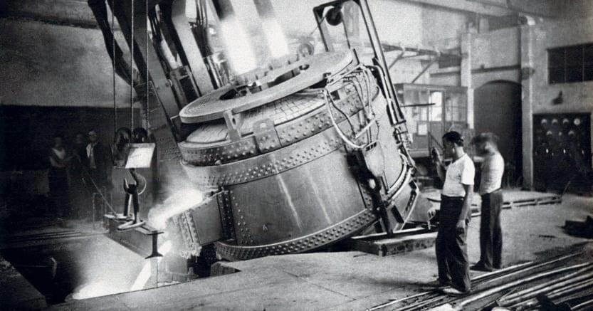 Manchester d'italia.Una colata di acciaio alle Acciaierie di Terni, anni 1930-1939