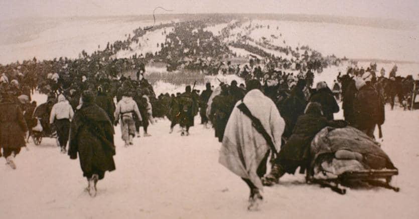«Nikolajewka c'ero anch'io».Uno scatto della sanguinosa battaglia sul fiume Don, combattuta il 26 gennaio 1943
