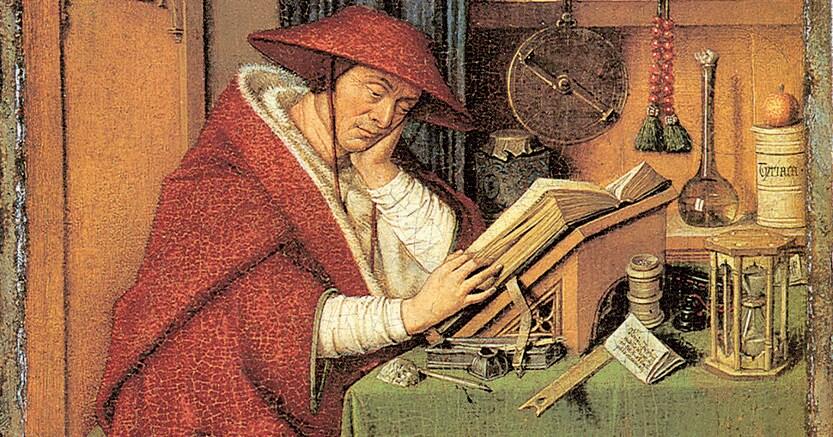 Santo traduttore.«San Girolamo nello studio», dipinto attribuito a Jan van Eyck e bottega datato al 1442, conservato nel Detroit Institute of Arts di Detroit