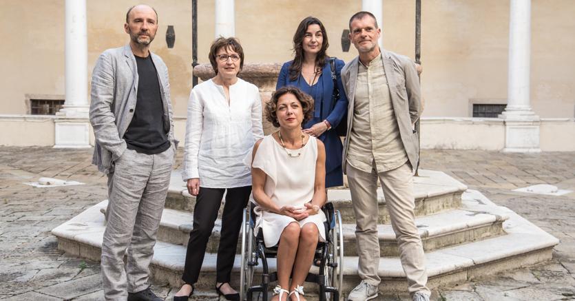 I finalisti del Campiello: Donatella Di Pierantonio,  Mauro Covacich,  Stefano Massini, Laura Pugno  e Alessandra Sarchi