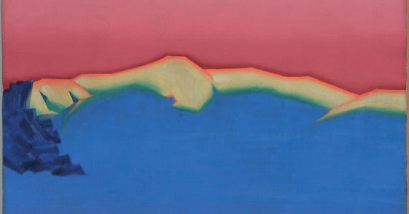 Monte Tamalpais. Dipinto di Teikichi Hikoyama, 1927, de Yong Gallery,Fine ArtMuseums,   San Francisco
