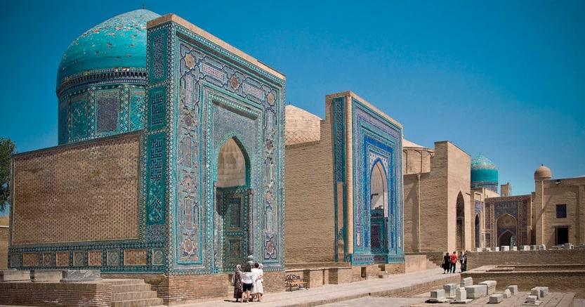 Samarcanda, gli spettacolari  mausolei Shah-i-Zinda (Marka)