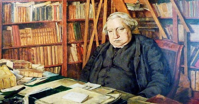 Storico della «civilization». Ernest Renan (1823 - 1892) nel suo ufficio del Collège de France