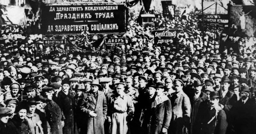 Mosca, 1917, dimostrazioni popolari. TASS / AFP