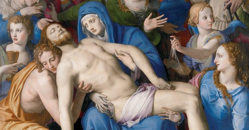 Cristo deposto. Bronzino - 1543-1545 circa, olio su tavola