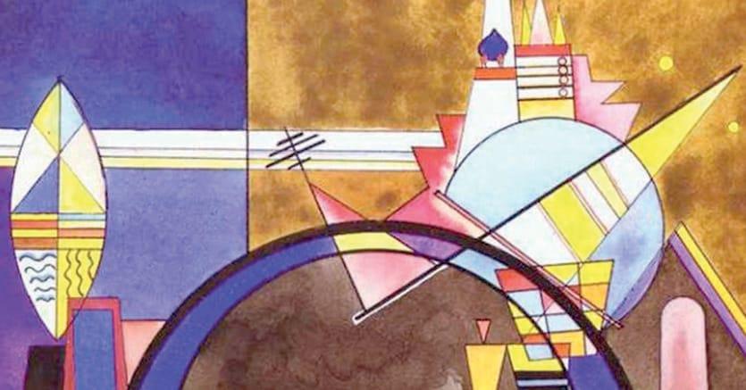 Arte & musica.  Wassily Kandinsky, «La grande porta di Kiev», scenografie per Musorgsky realizzate peri Teatro Friedrich di Dessau il 4 aprile 1928, Colonia, Collezione Studi teatrali Schloss Wahn.