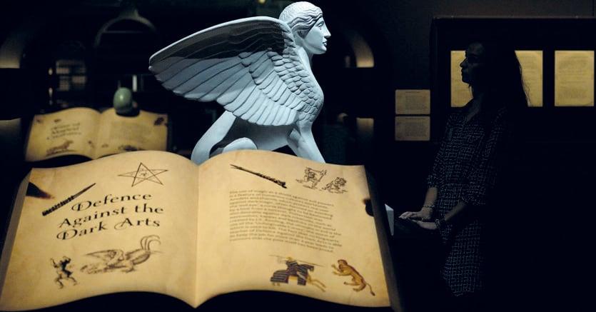 Fantasia e realtà.Un particolare dell'allestimento alla British Library