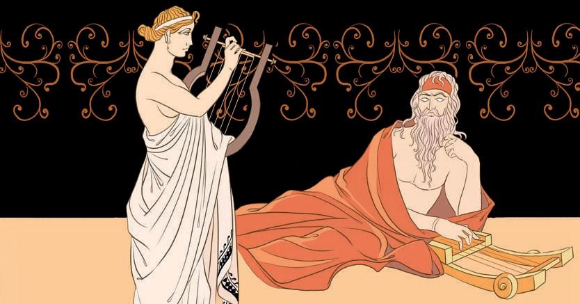Canta, o dea, l'ira rovinosa di Achille, figlio di Peleo. Giulio Peranzoni, «Omero con la Musa»