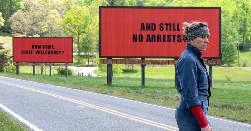 Una scena del film «Tre manifesti a Ebbing Missouri»