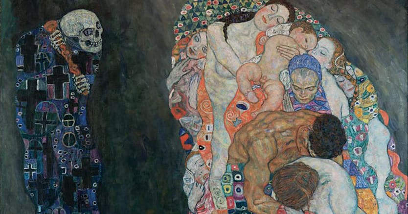 Gustav Klimt, «Morte e Vita», 1915,   Leopold Museum, Vienna