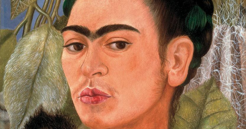 Icona. Frida Kahlo, «Autoritratto con scimmia» (1938),  Albright-Knox Art Gallery