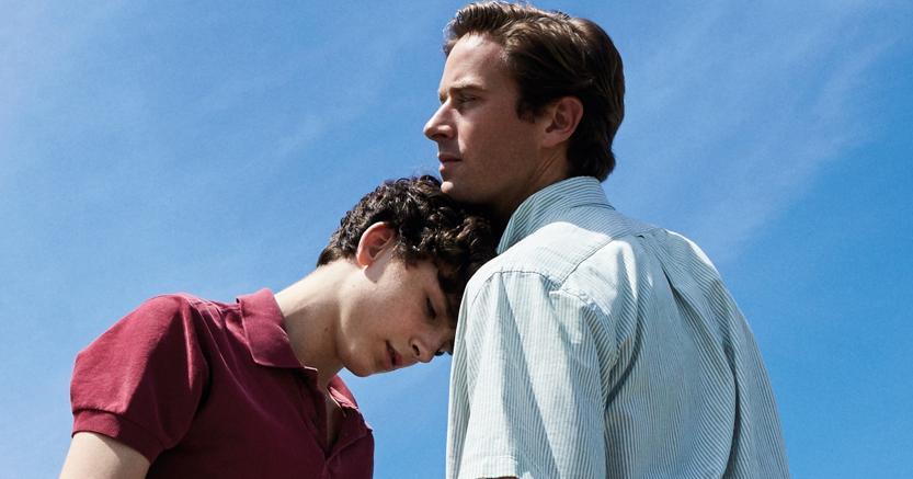 Amore sofferto. Elio Perlman (Timothée Chalamet) e Olivier (Armie Hammer)