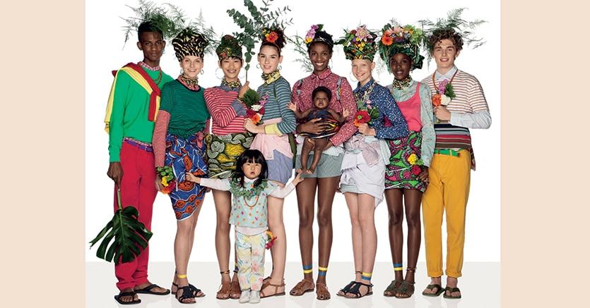 Una delle immagini della nuova campagna di Oliviero Toscani   per la Collezione   Primavera Estate di  Benetton, che celebra la diversità etnica e di gender. Credit: Oliviero Toscani per United Colors of Benetton