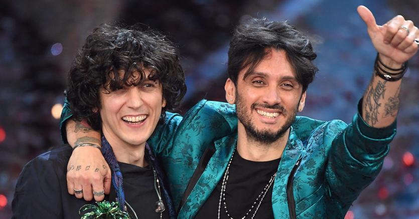 Ermal Meta e Fabrizio Moro vincitori a Sanremo (Ansa)