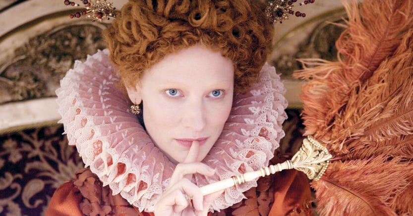 Grande sovrana poliglotta.La regina d'Inghilterra Elisabetta I impersonata da Cate Blanchett nel film «Elizabeth–The Golden Age» (2007) diretto da Shekhar Kapur