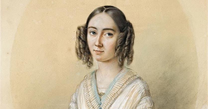 Fanny Cäcilie Mendelssohn ritratta dal marito Wilhelm Hensel