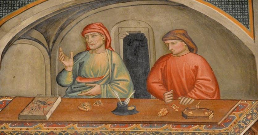 Denaro e potere.Banchieri toscani in un affresco di Niccolò Gerini, del 1395, nella chiesa di San Francesco a Prato