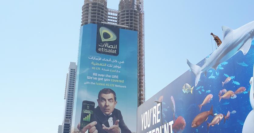 «Mr. Bean» testimonial della telefonia a Dubai