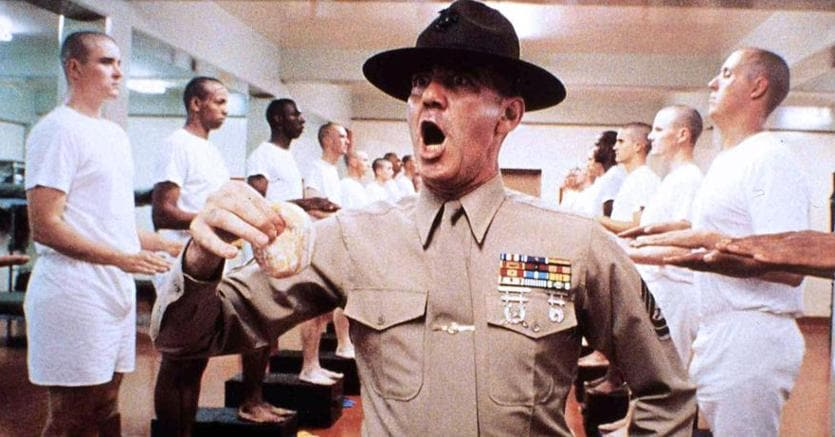 Ronald Lee Ermey in «Full Metal Jacket» (Ansa)
