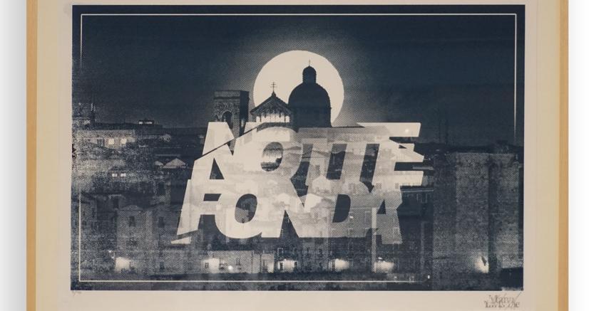 NotteFONDA. Serigrafia ad un colore su carta museale.  Edizione: 20 / 76x56 cm -  2019