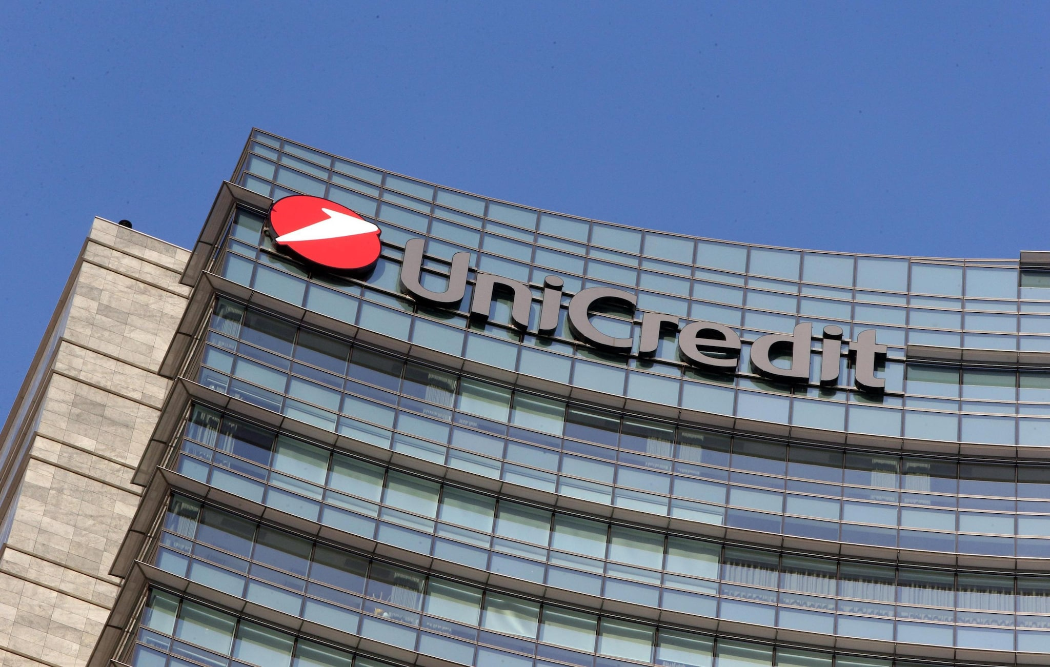 Sede Unicredit a Milano Ansa