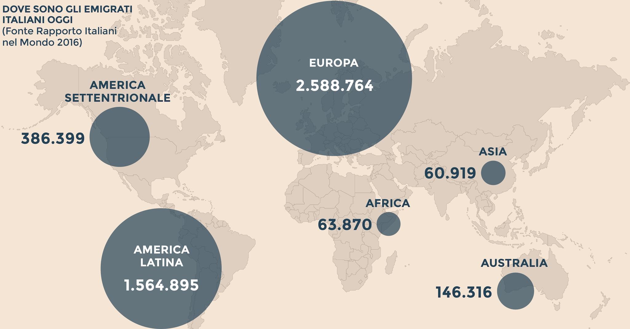 Italiani all estero  107mila espatriati nel 2015 93a293e4bcd8