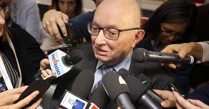 Giorgio Squinzi a Bologna (LaPresse)