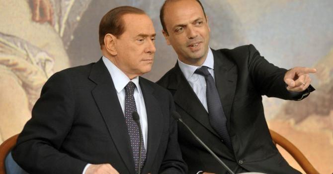 Silvio Berlusconi  e  Angelino  Alfano (Agf)