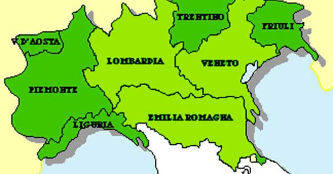 Risultati immagini per veneto lombardia emilia-romagna