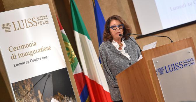 La presidente del Consiglio Scientifico LUISS School of Law, Paola Severino (Ansa)