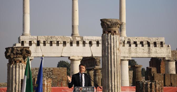 A Pompei riaprono sei domus restaurate. Renzi: «Italia dice basta alle incompiute»