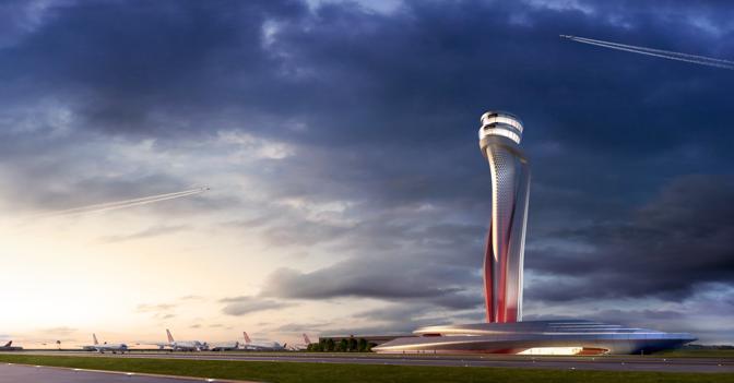 Mega-aeroporto di Istanbul, la torre di controllo sarà disegnata da Aecom-Pininfarina